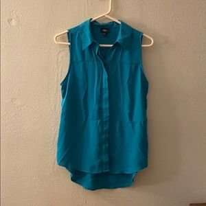 Teal button up tank
